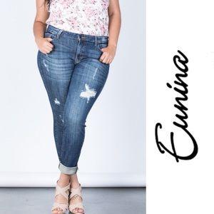 Plus size distressed jeans 3X